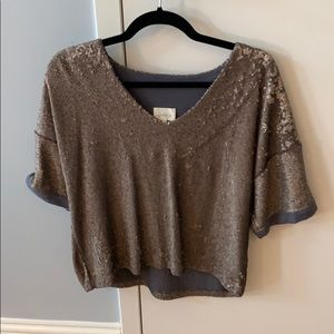 Anthropologie cropped short sleeve